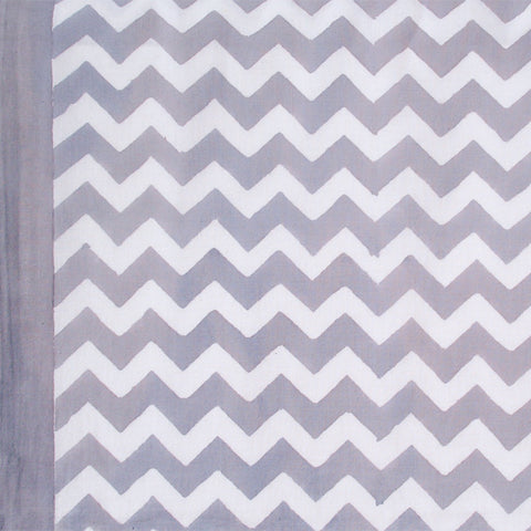 Grey Zigzag Tablecloth and Napkins