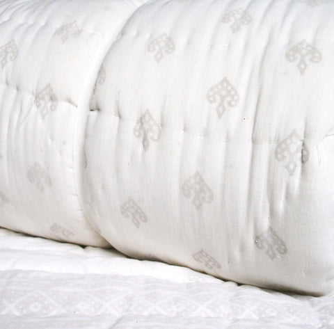 White and Ice Grey Quilt