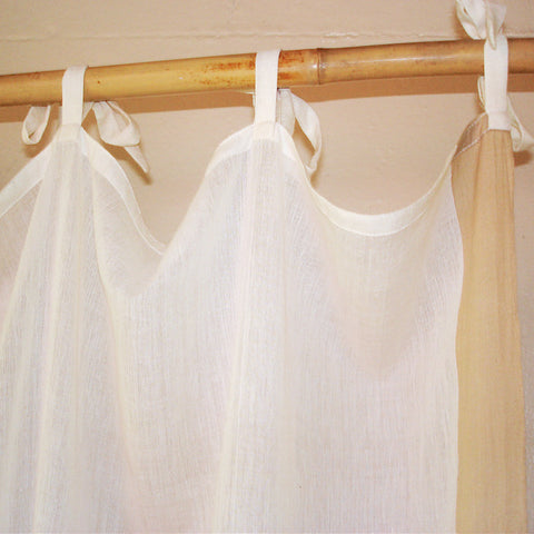 Cream Voile Curtain