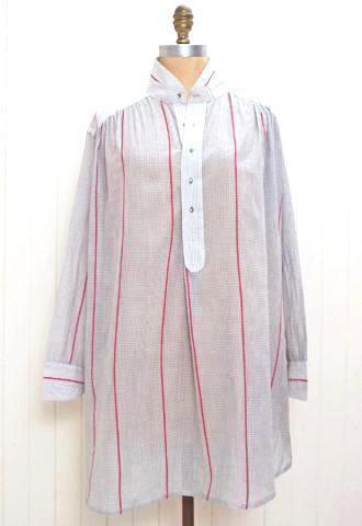 Grey/Red  artists smock