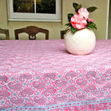 Pink Paisely Tablecloth