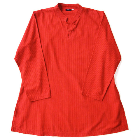 Rust Red Stripe Kurta