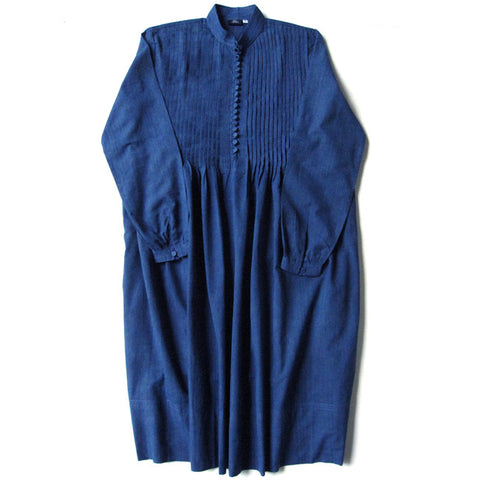 Blue Pintuck Dress