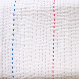 Ivory with fluro stitch quilt