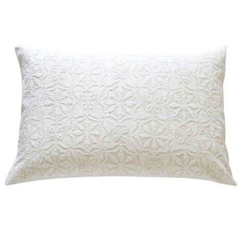 Cream Applique Pillowcase