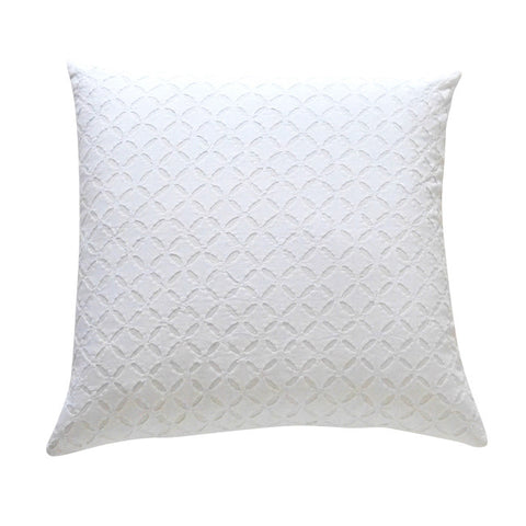 Large White Applique Cushion