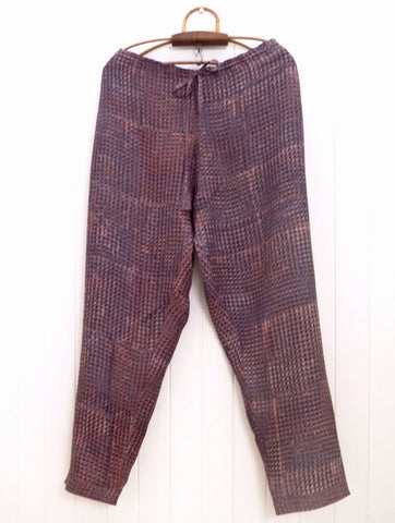 Indigo/Madder silk trouser