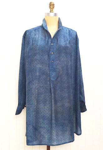 Indigo Silk Artists Smock