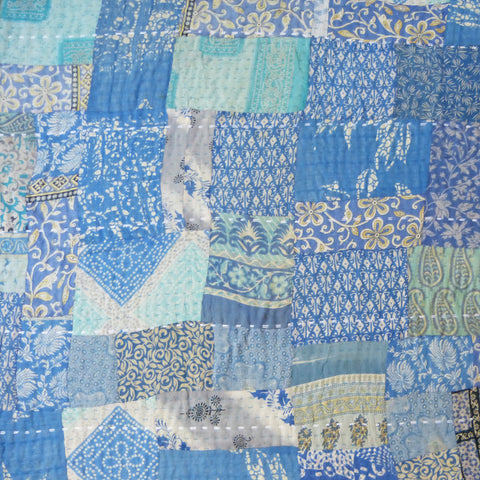 Watercolours Vintage Sari Quilt