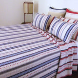 Red and Blue Stripe Quilt
