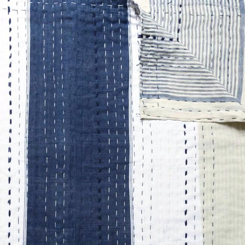 Indigo/Cream/White Quilt