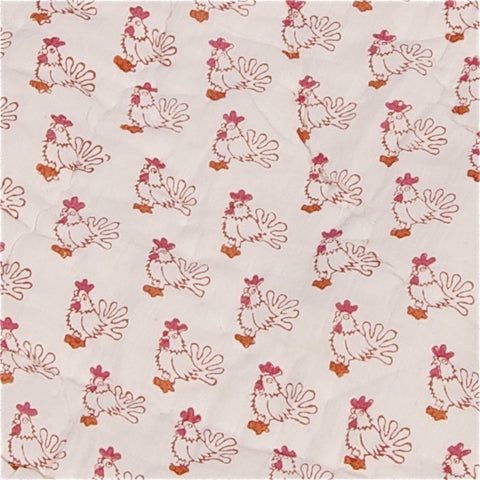 Red Chicken Quilt