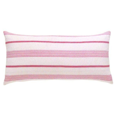 Stone and Red Ticking Cushion (3)