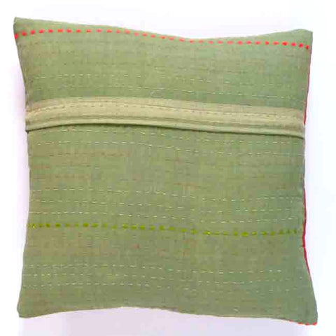 Terracotta and Avocado cushion (2)