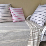 Grey Stripe Quilt