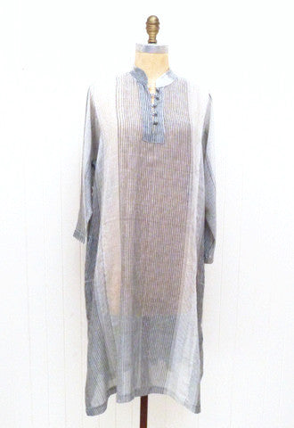 Grey Stripe Kurta Dress
