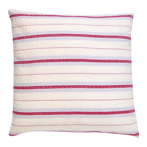 Rhubarb stripe cushion 1