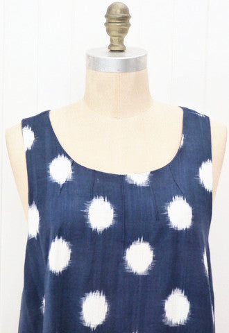 Ikat Dot Pinafore Dress