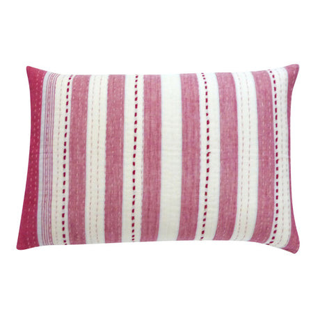 Red and White Stripe Cushion (2)