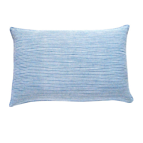 Thin Stripe Indigo Shibori cushion (2)