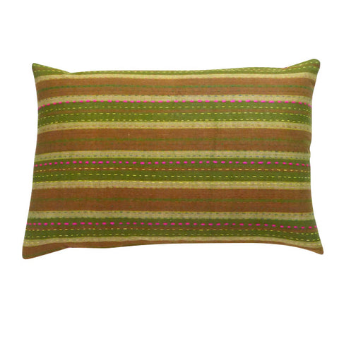 Olive and Red cushion (2)