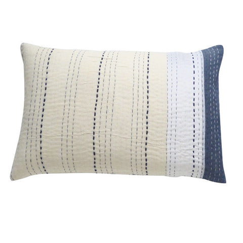 Indigo/ Cream and White Cushion (2)
