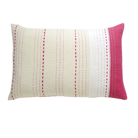Red/Cream and white Cushion (2)