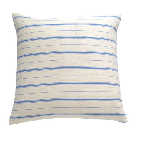 Blue Ticking Cushion (1)