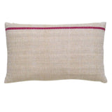 Tan With Burgundy Stripe Cushion (2)