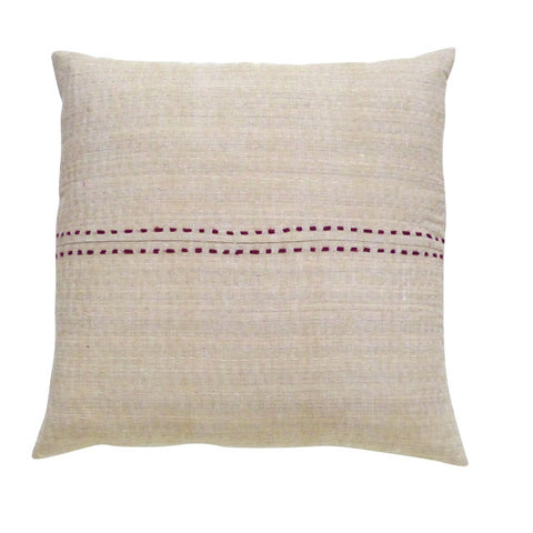 Tan With Burgundy Stripe Cushion (1)