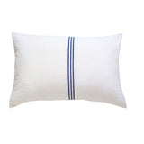 White with Navy Stripe Cushion (2)