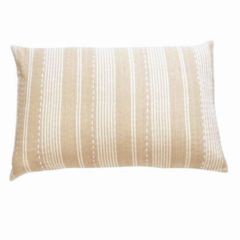 Camel With White Stripes Cushion (2)
