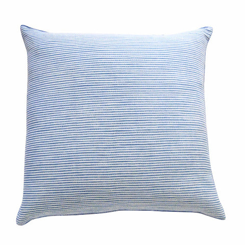 Thin Stripe Indigo Shibori cushion (1)