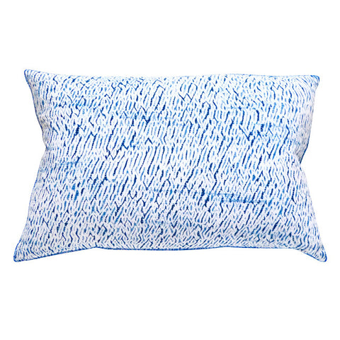 White Indigo Shibori cushion (2)