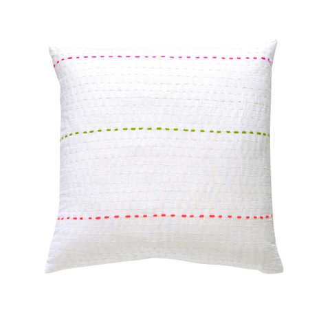 White / Color stitch cushion (1)