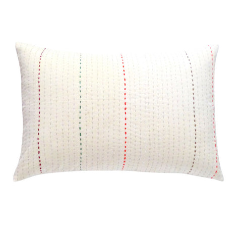 Cream / Color stitch cushion