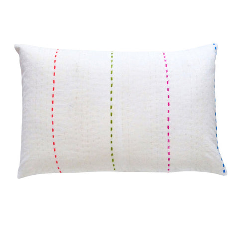White / Color stitch cushion (2)