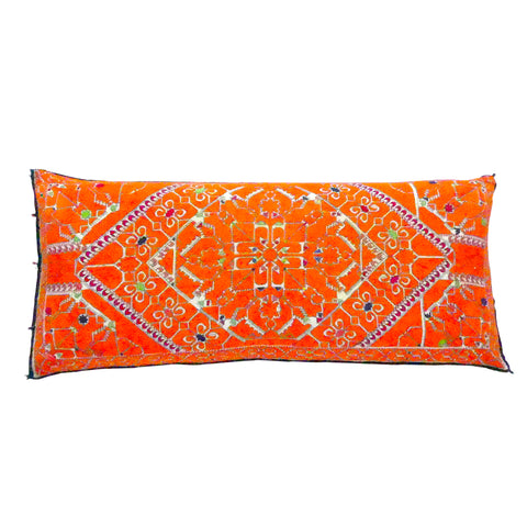 Saffron jewel cushion