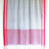Red Gingham Shawl