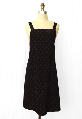 Black / Red Ikat Pinafore