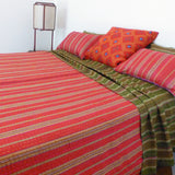 Olive and Red Quilt