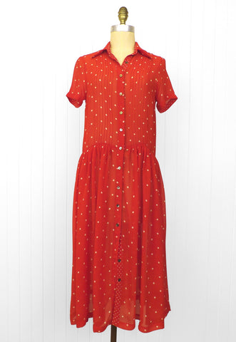 Red Dotty Dress