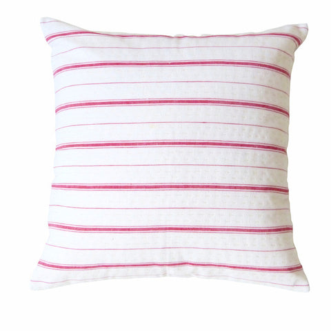 Red Ticking Cushion (1)