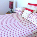Red Ticking Quilt