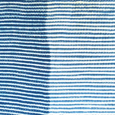 Thin Stripes Shibori Indigo quilt