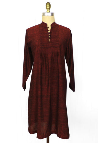 Shot Silk Smock Dress