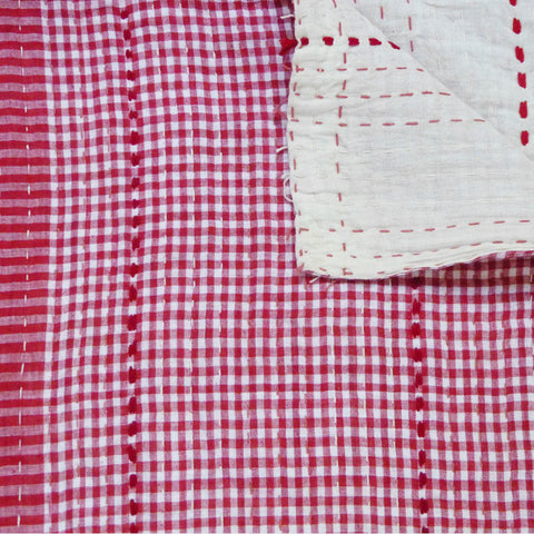 Small Red Check Quilt