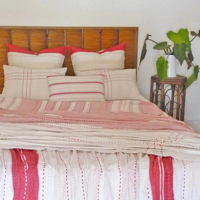 Red/Cream/White quilt