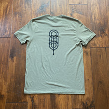 Load image into Gallery viewer, Moss Green Quill Kendama X Green Revolution Tee