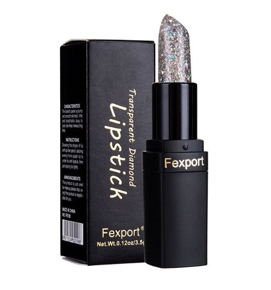Fexport Diamond GREY Changing Lipstick Long-Lasting Moisturizing Glitter Lipstick